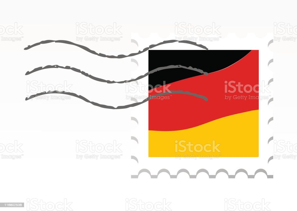 Germany stamp royalty-free stock vector art