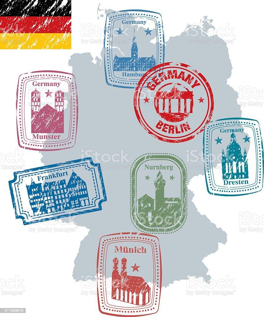 Germany Stamp vector art illustration