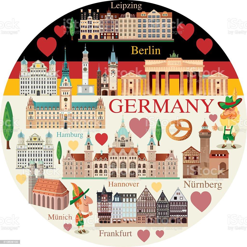 Germany Travel vector art illustration