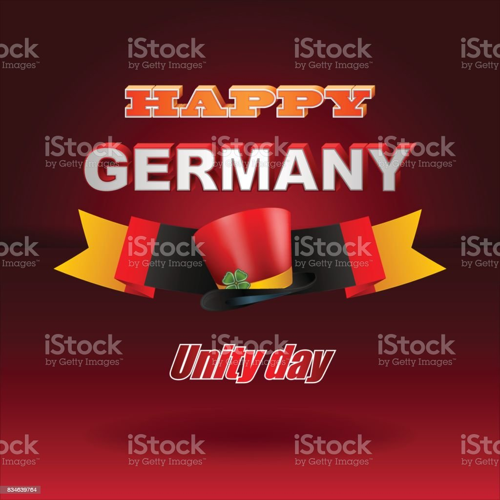 Germany, Unity day celebration vector art illustration