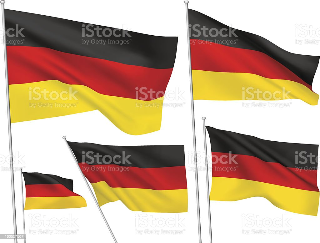 Germany vector flags royalty-free stock vector art