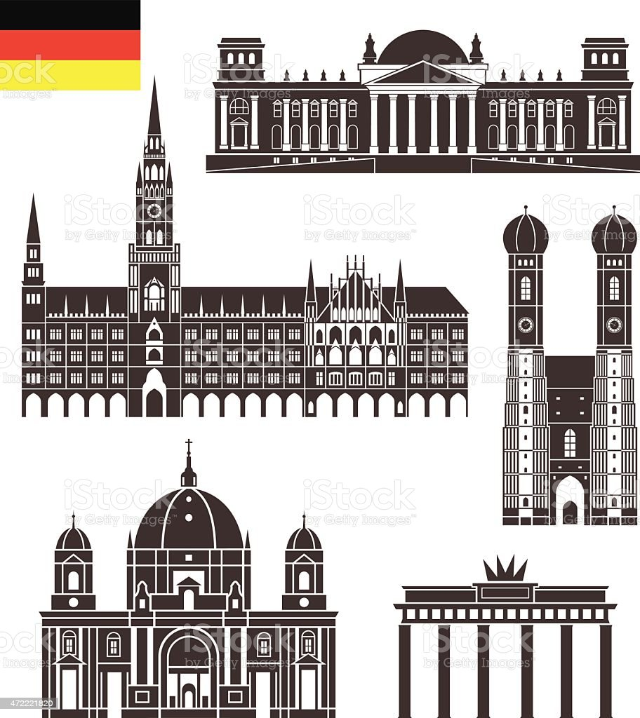 Germany vector art illustration
