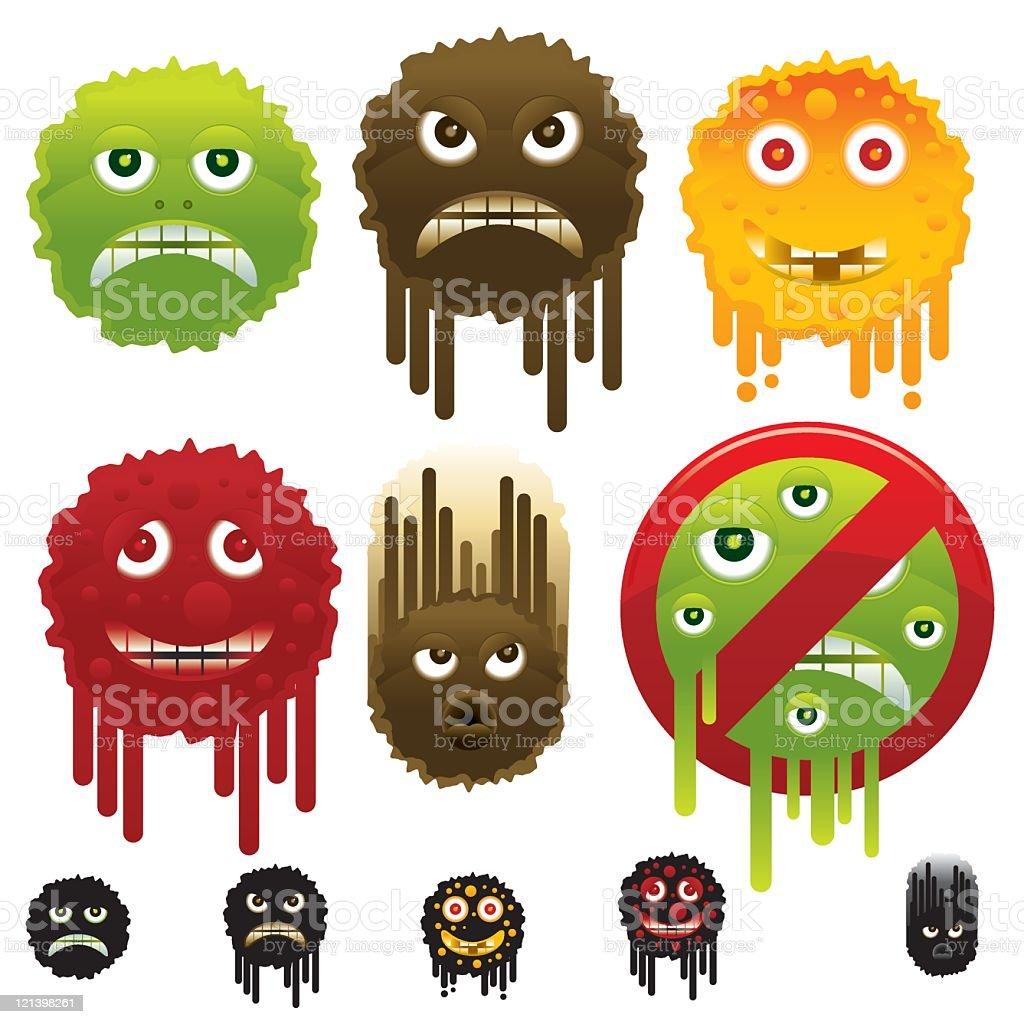 Germs vector art illustration