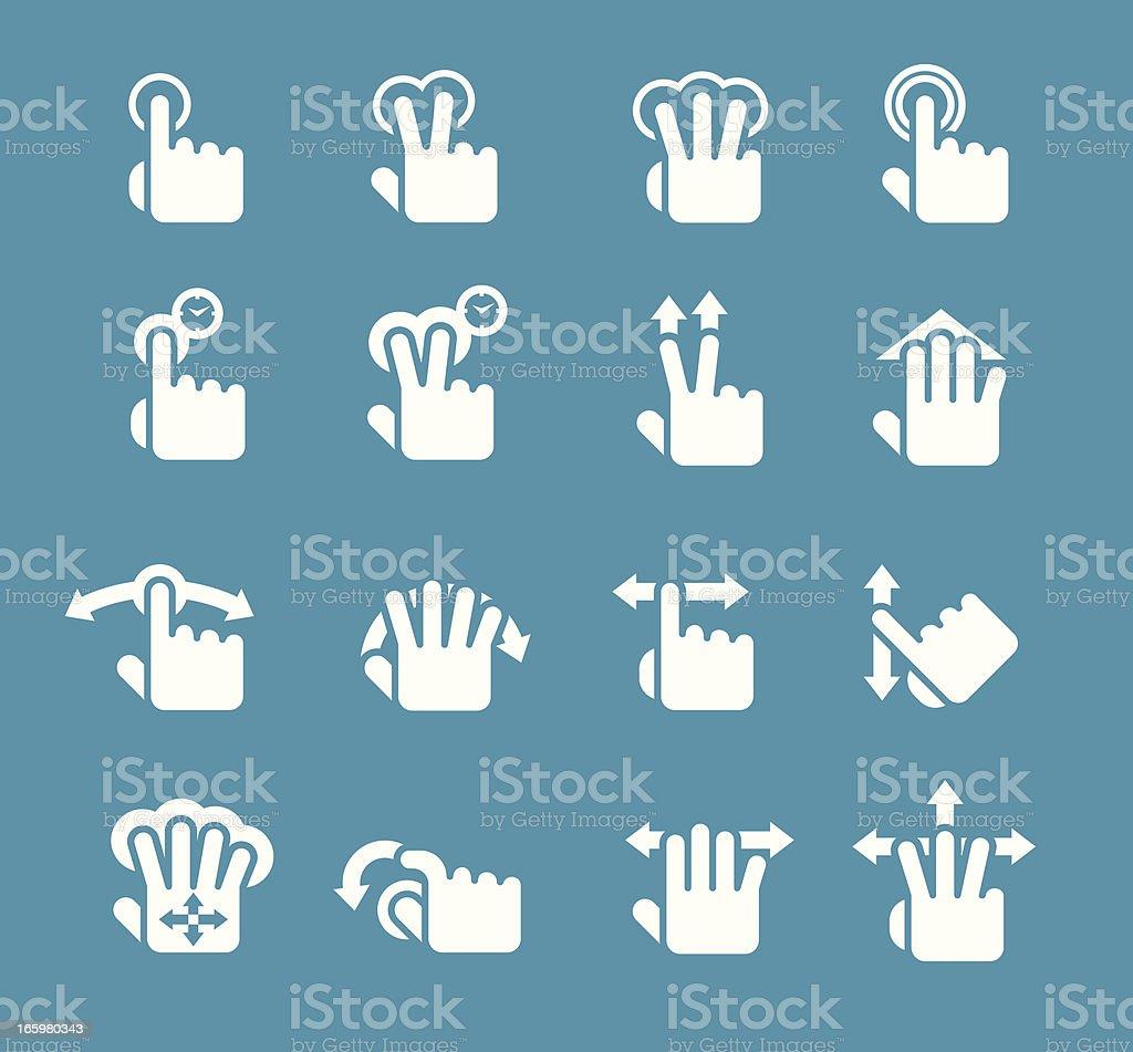 Gesture Icon set vector art illustration