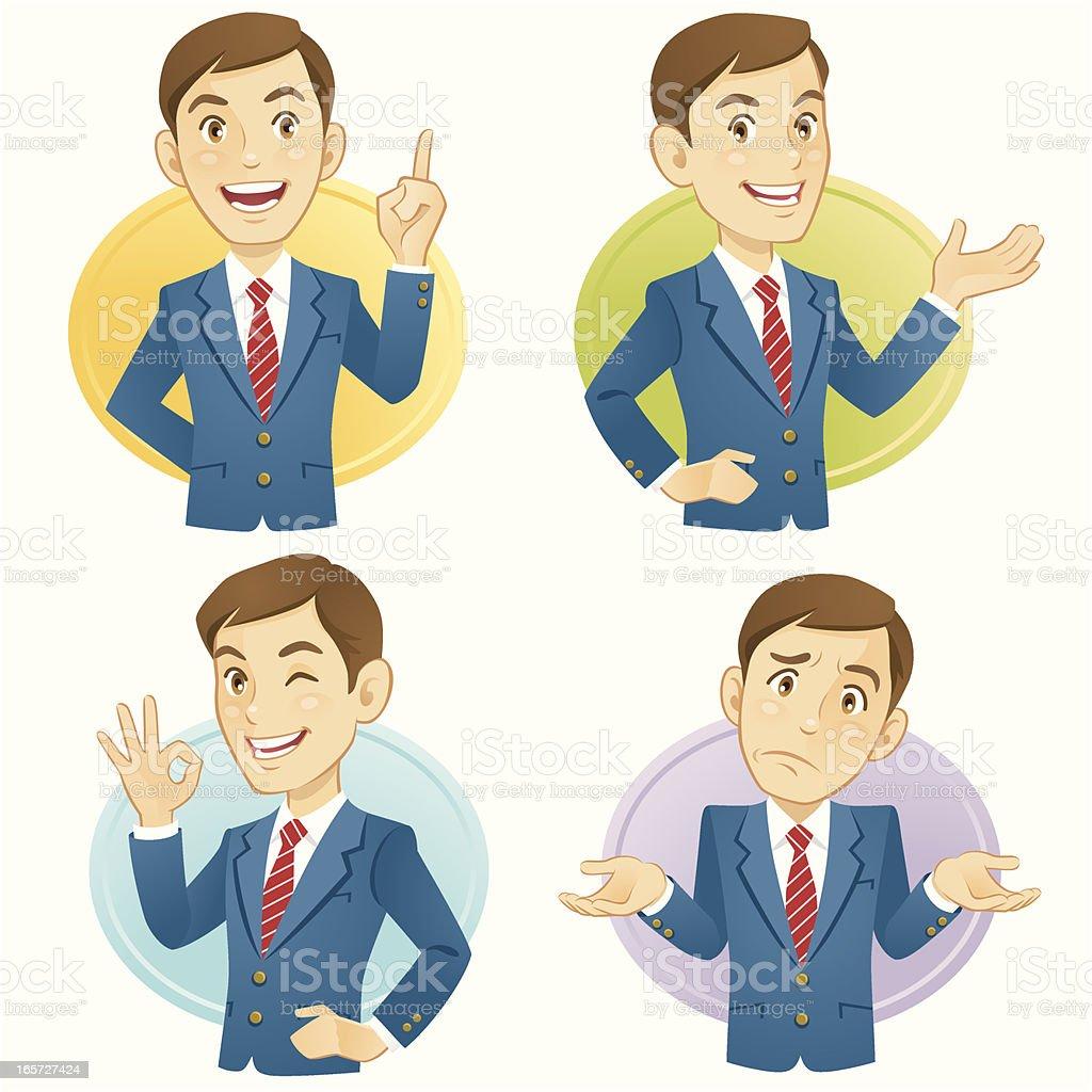 Gesturing Businessmen royalty-free stock vector art