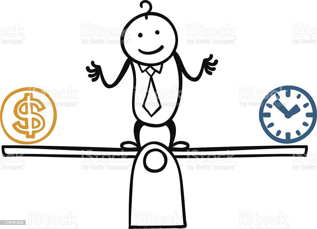Get Balance! royalty-free stock vector art