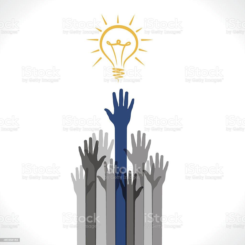 get new idea vector art illustration