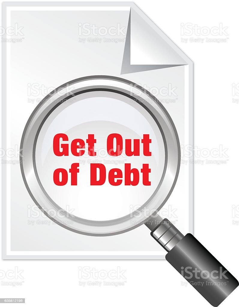 Get Out of Debt vector art illustration