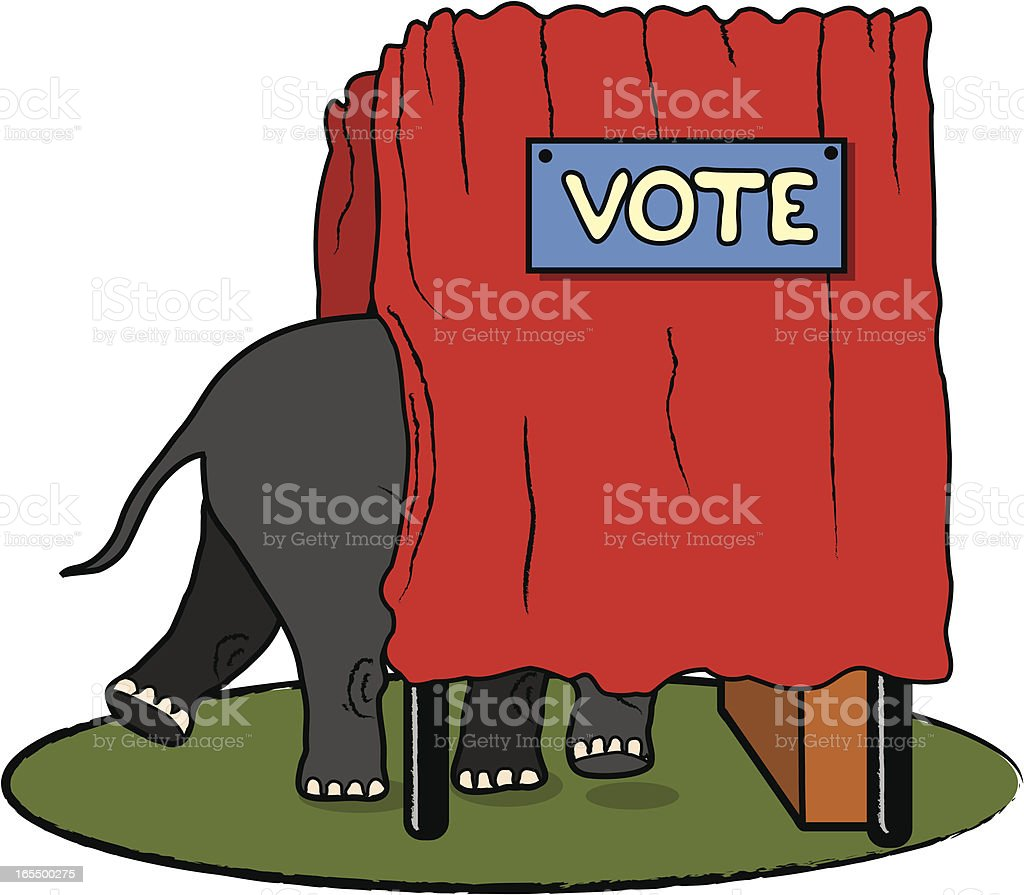 Get Out The Republican Vote royalty-free stock vector art