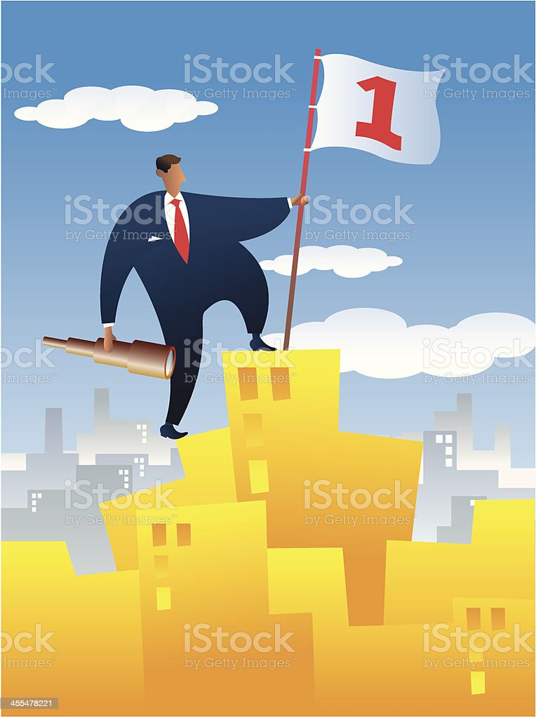 get to the top vector art illustration