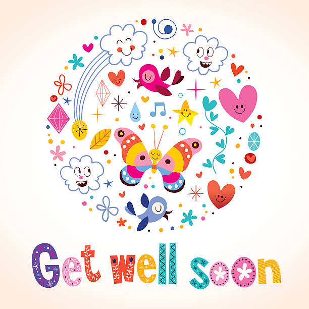 Get Well Card Clip Art, Vector Images & Illustrations - iStock