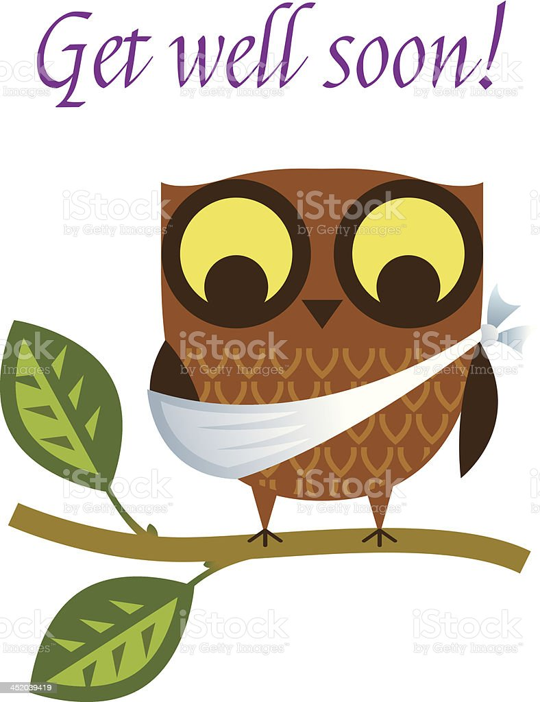 Get well soon two. royalty-free stock vector art