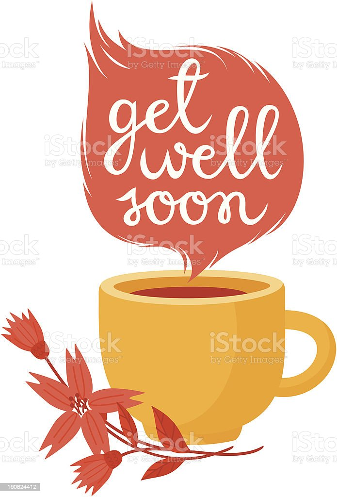 Get well soon royalty-free stock vector art