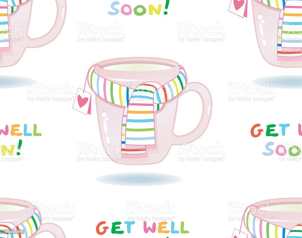 Get well soon ! (seamless pattern); royalty-free stock vector art