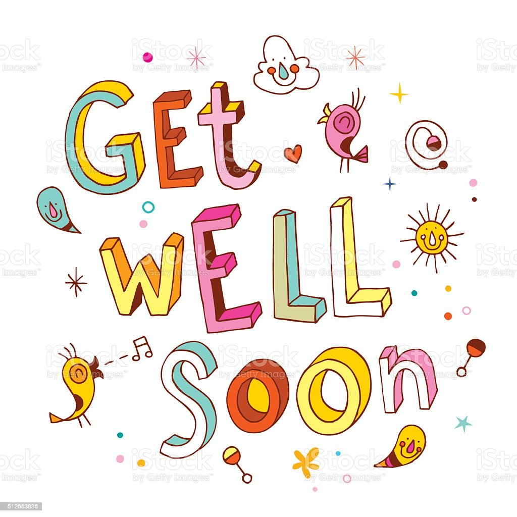Get Well Soon stock vector art 512683836 | iStock
