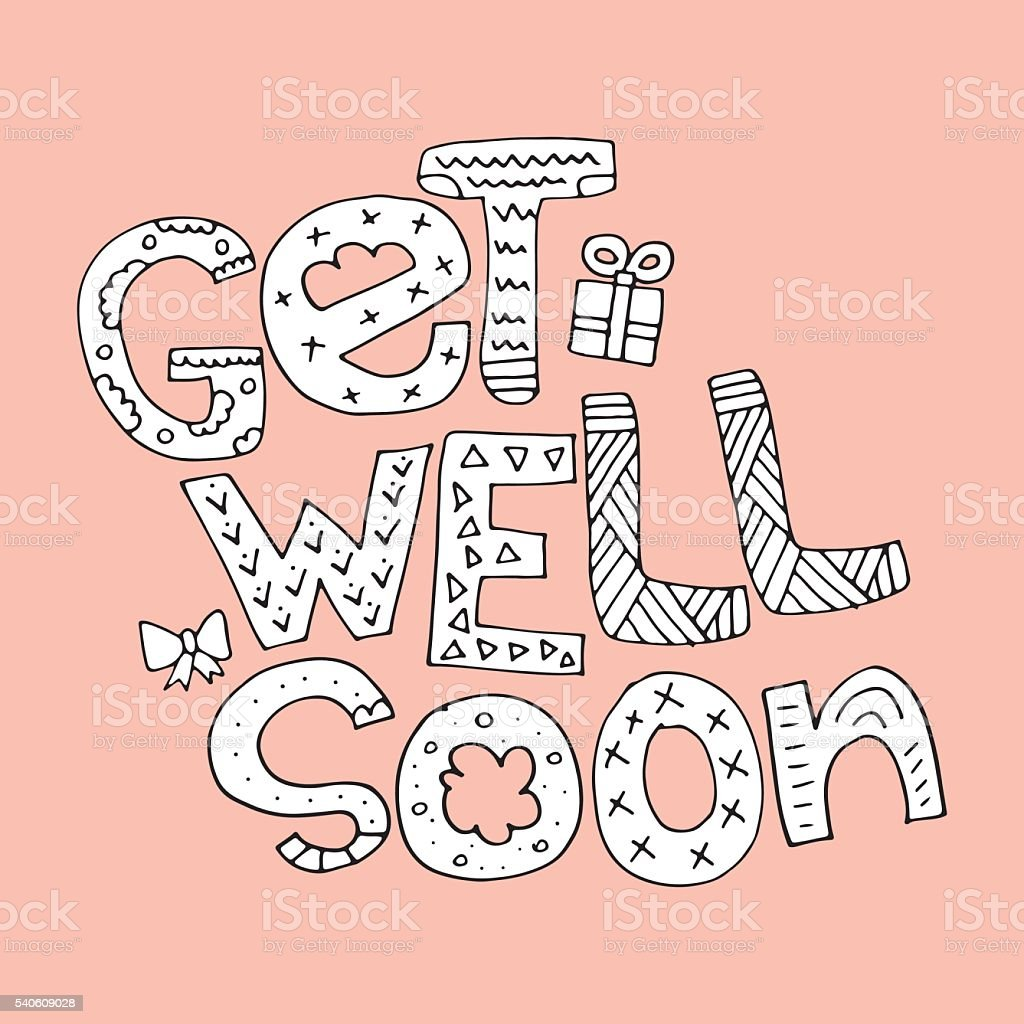 Get Well Soon vector art illustration
