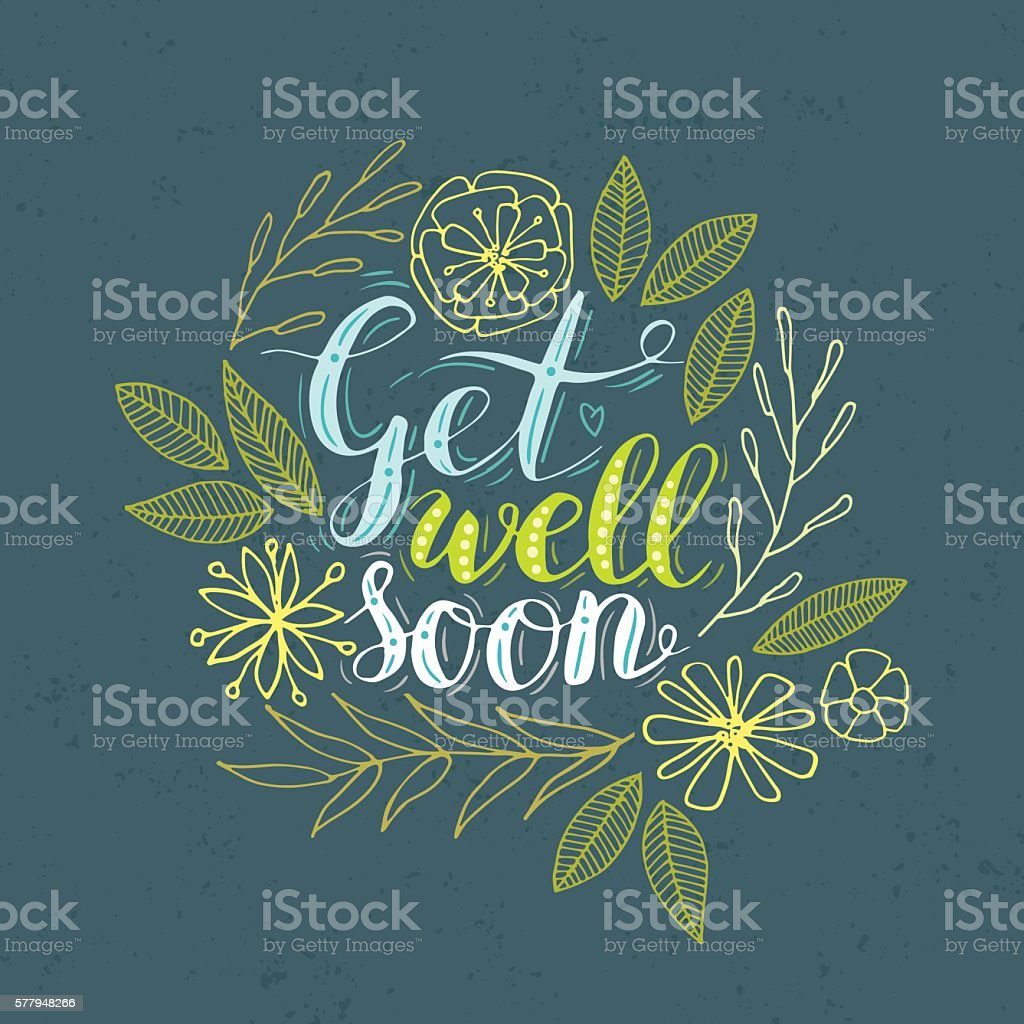 Get well. vector art illustration