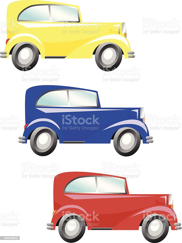 Getaway Cars royalty-free stock vector art