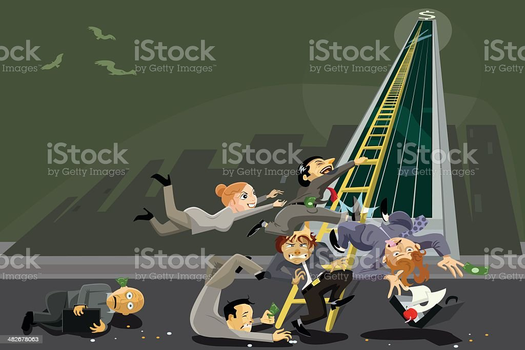 Getting Ahead in Business vector art illustration