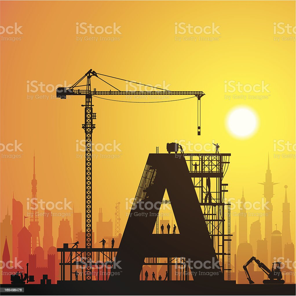 Getting an A in the City royalty-free stock vector art