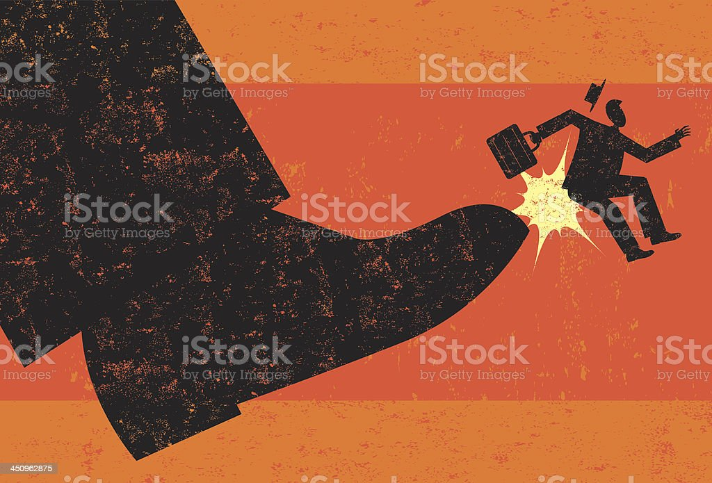 Getting Fired vector art illustration