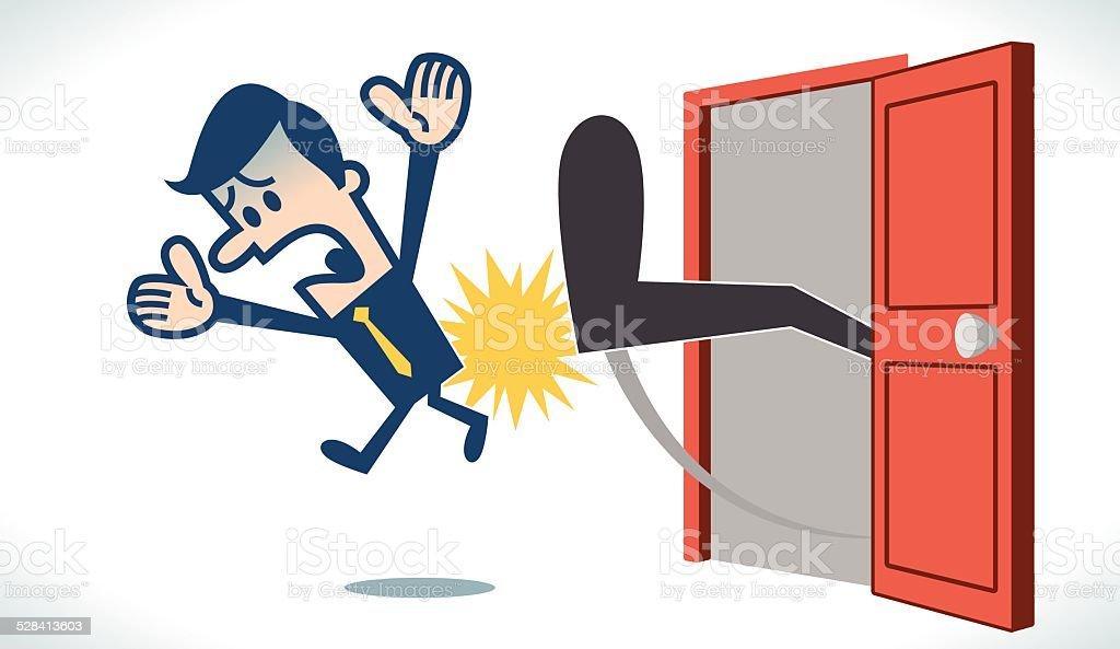 Getting fired vector art illustration