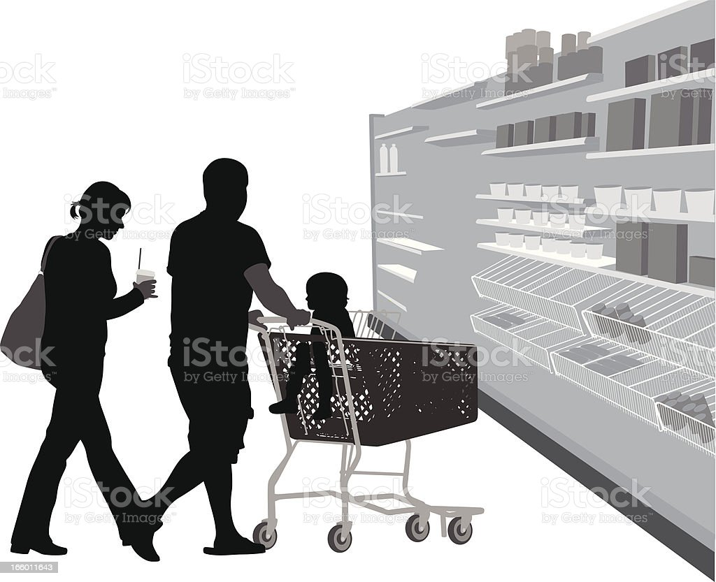 Getting Groceries royalty-free stock vector art