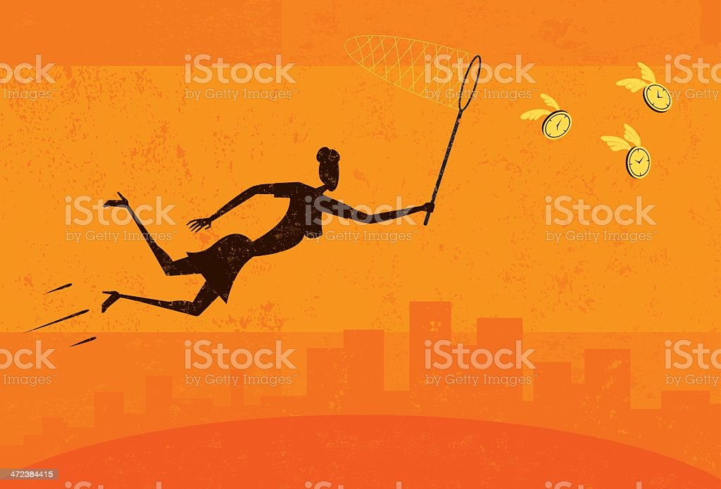 Getting more time royalty-free stock vector art