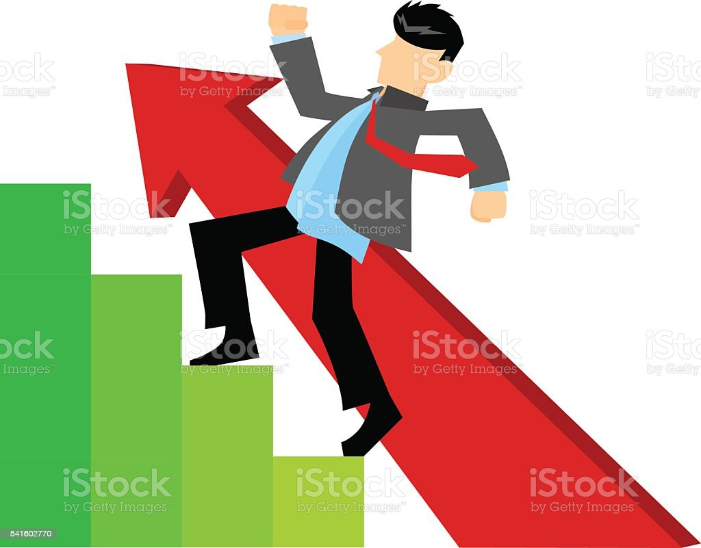 getting promotion to the next level stock vector art 541602770 getting promotion to the next level royalty stock vector art