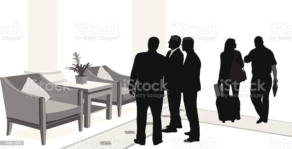 Getting Together Vector Silhouette royalty-free stock vector art
