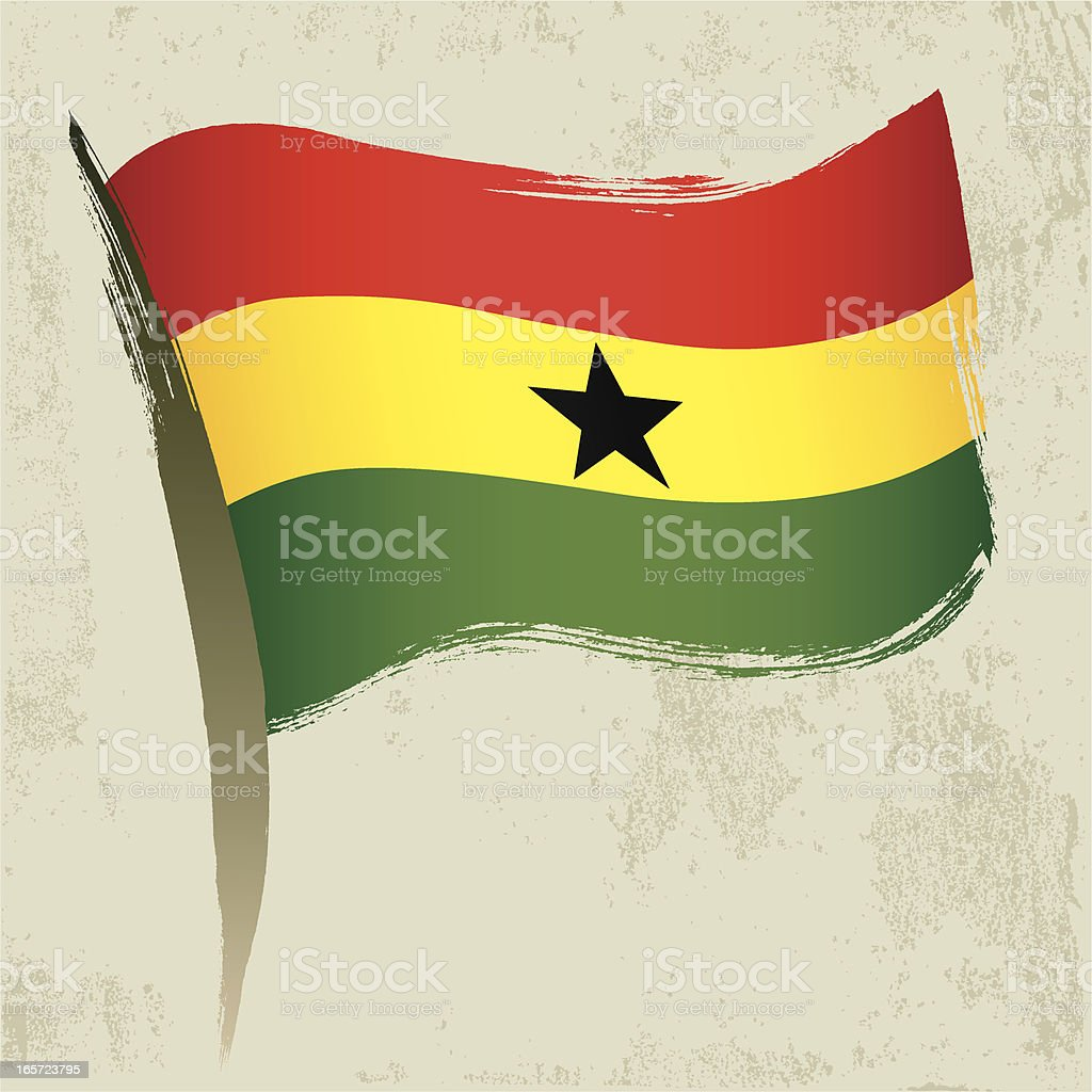 Ghana Flag royalty-free stock vector art