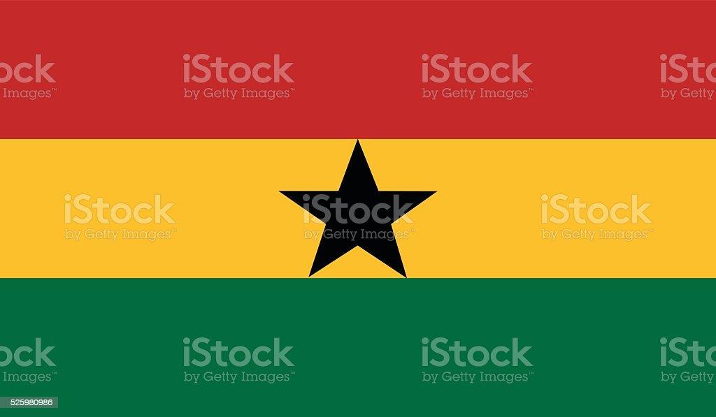 Ghana flag vector art illustration