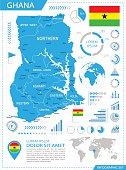 Ghana - infographic map - Illustration