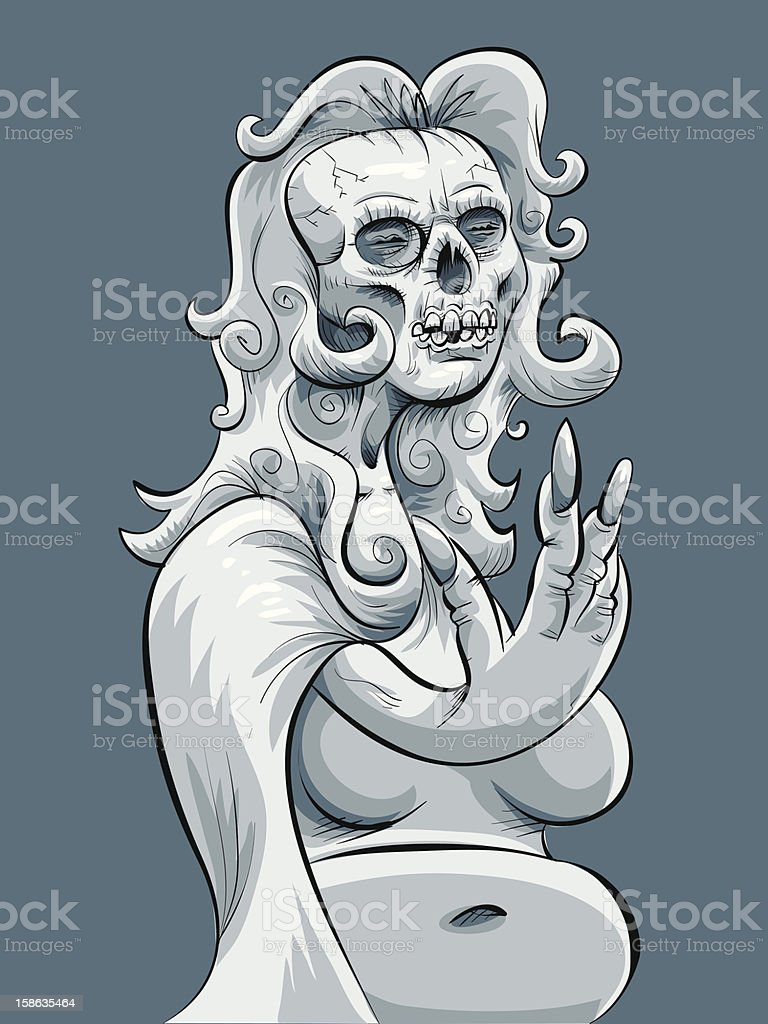 Ghost Beckons royalty-free stock vector art