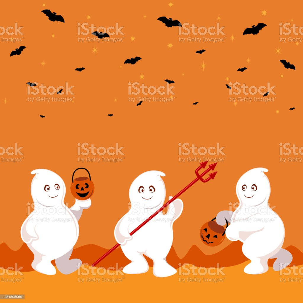 Ghost Celebrate Halloween royalty-free stock vector art
