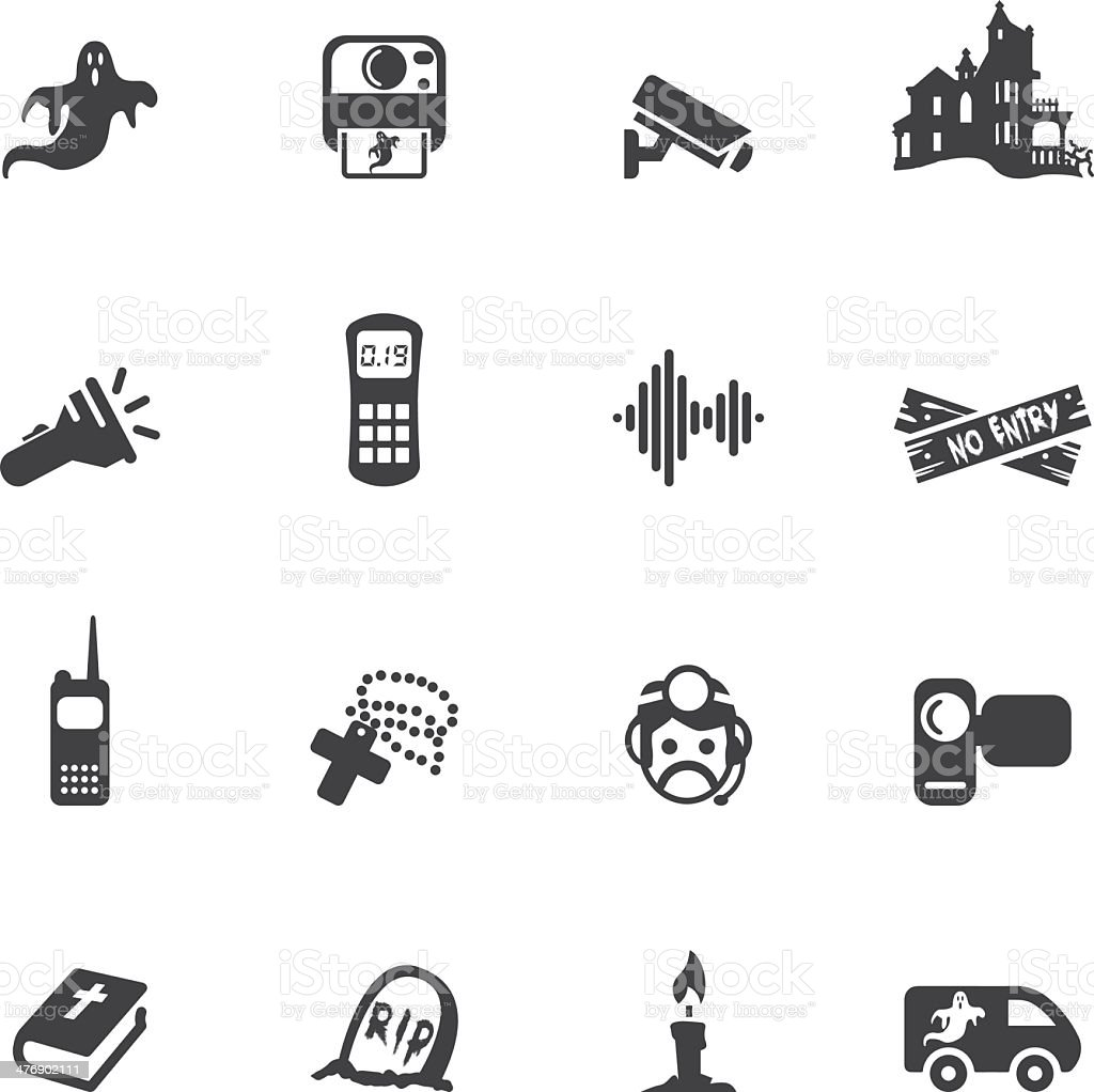 Ghost adventures Silhouette Icons vector art illustration
