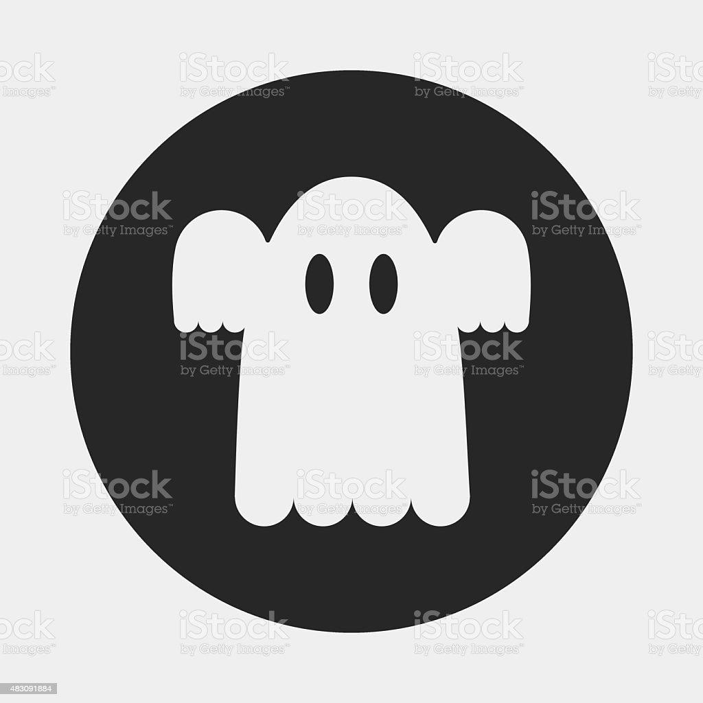 ghost icon vector art illustration