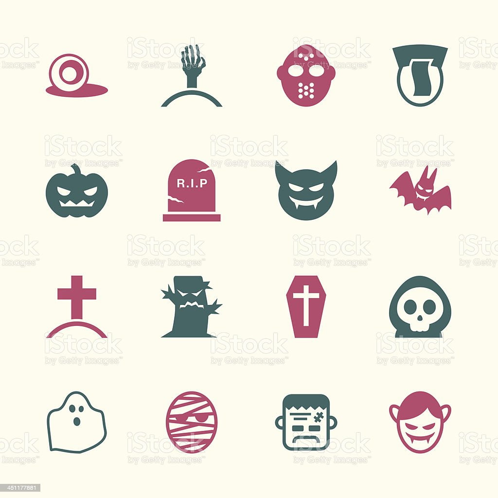 Ghost Icons - Color Series   EPS10 vector art illustration