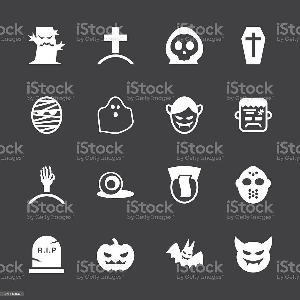 Ghost Icons - White Series   EPS10 vector art illustration