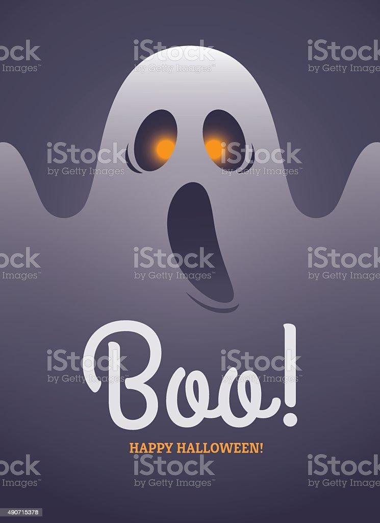 Ghost poster vector art illustration