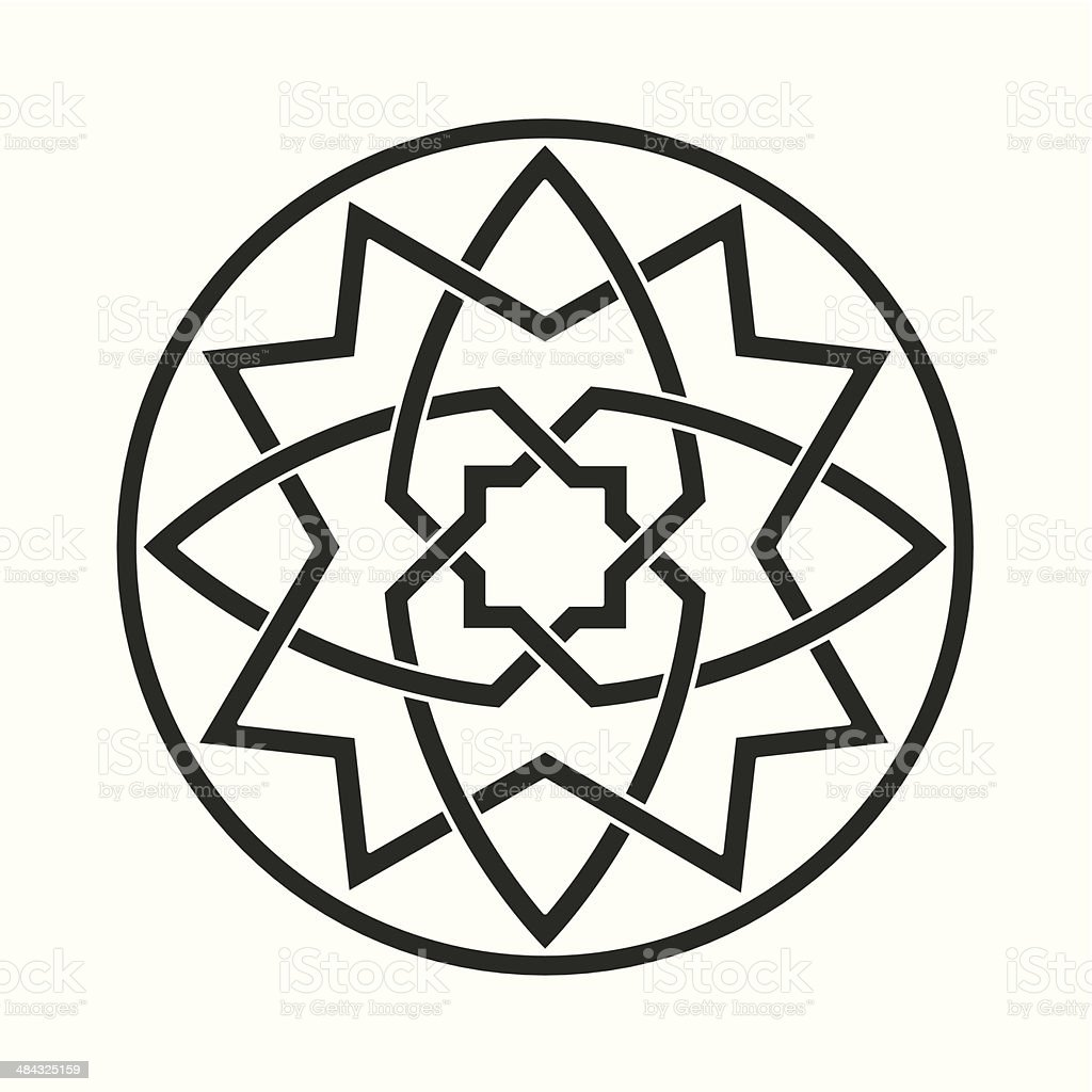 ghotic ornament motif royalty-free stock vector art