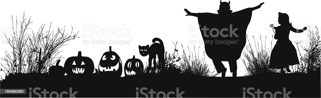 Ghoulish Vector Silhouette royalty-free stock vector art