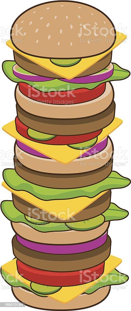 Giant Burger royalty-free stock vector art