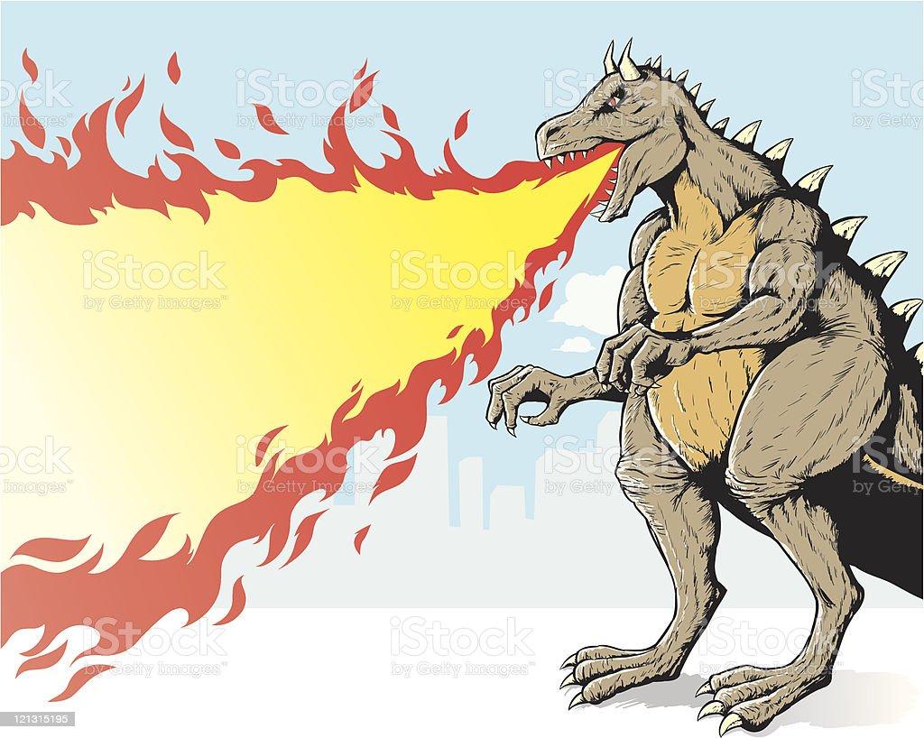 Giant monster vector art illustration