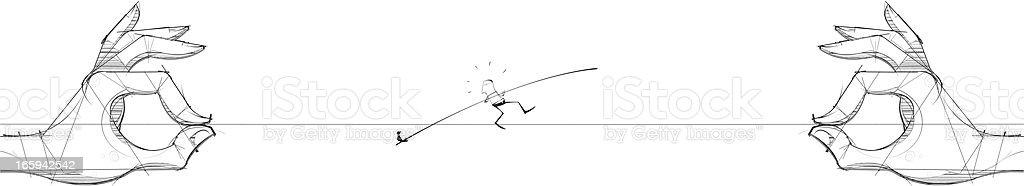 Giant Tight Rope vector art illustration