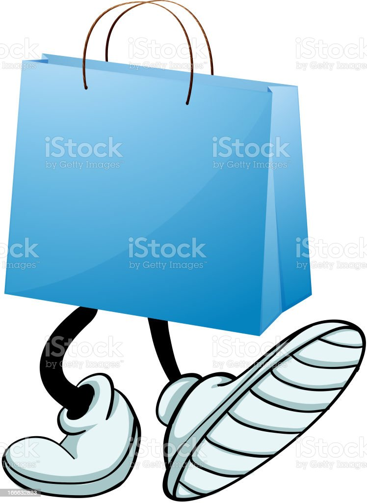 Gift bag with feet royalty-free stock vector art