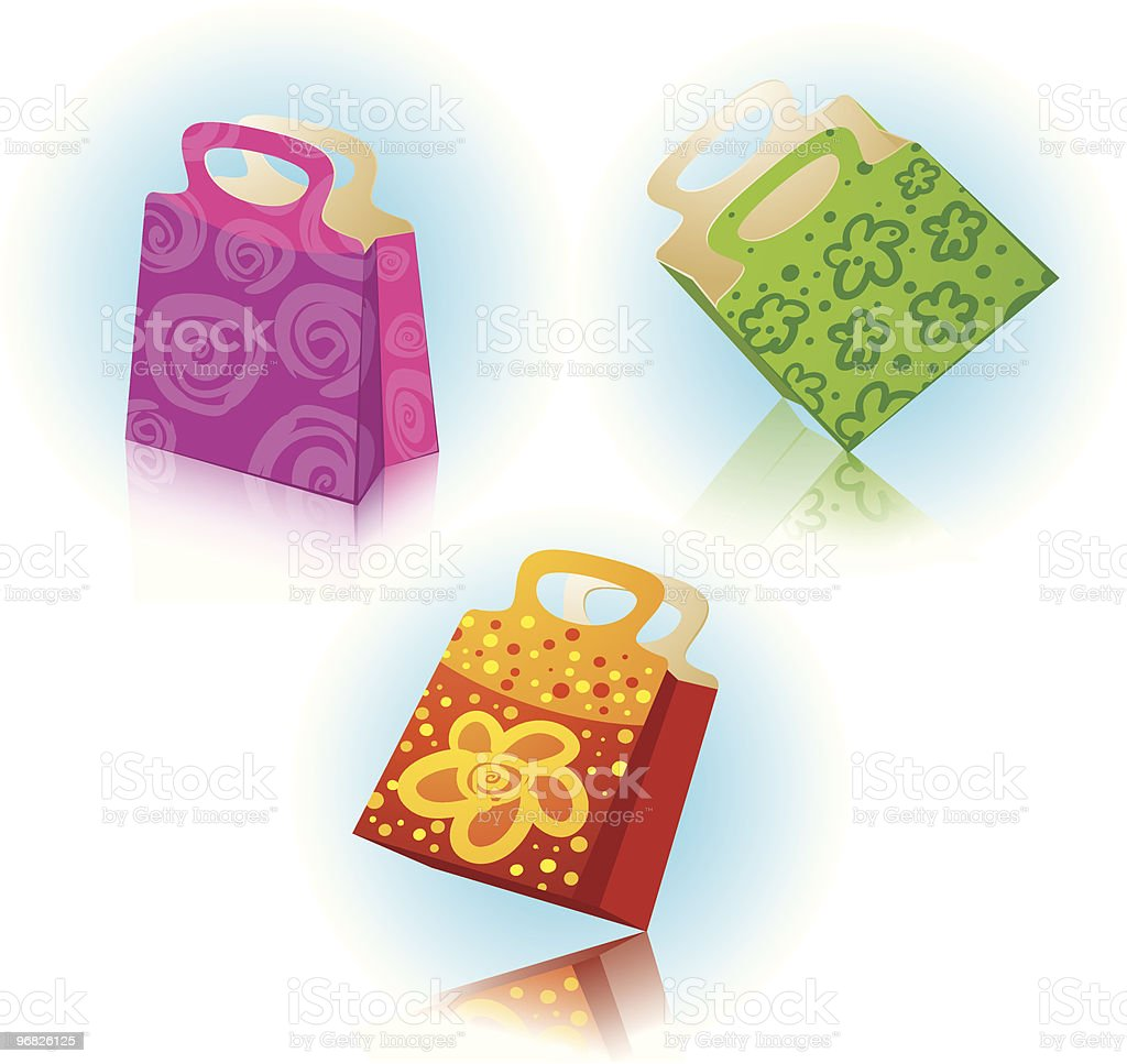 Gift bags. royalty-free stock vector art