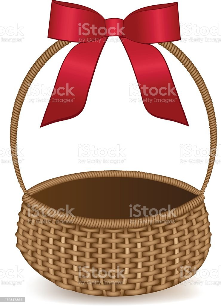 Gift Basket royalty-free stock vector art
