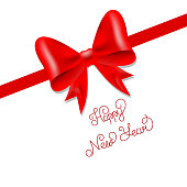 Gift bow. Happy New Year