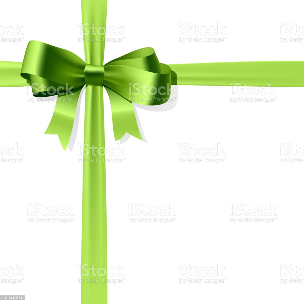Gift bow vector art illustration